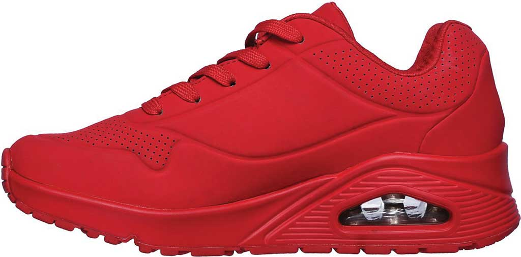 Women's Skechers Uno Stand on Air Sneaker, Red, large, image 3