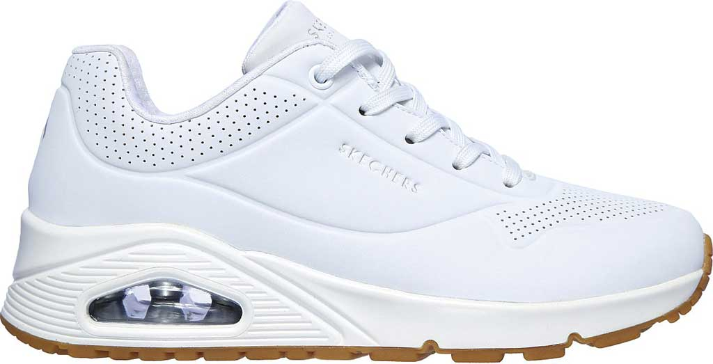Women's Skechers Uno Stand on Air Sneaker, White, large, image 2