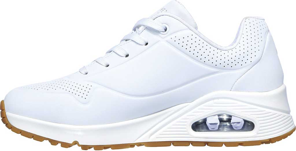 Women's Skechers Uno Stand on Air Sneaker, White, large, image 3