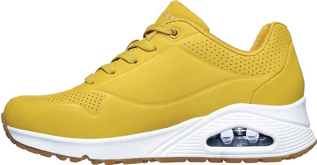 Women's Skechers Uno Stand on Air Sneaker, Yellow/White, large, image 3