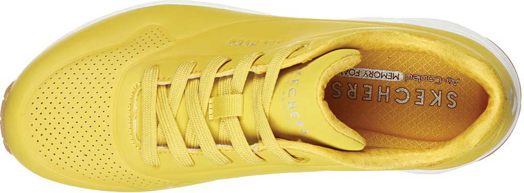 Women's Skechers Uno Stand on Air Sneaker, Yellow/White, large, image 4