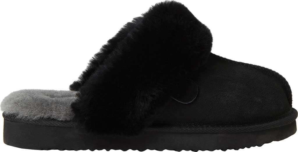 Women's Original Comfort by Dearfoams Sydney Scuff Slipper, Black, large, image 2