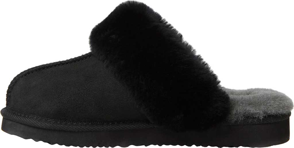 Women's Original Comfort by Dearfoams Sydney Scuff Slipper, Black, large, image 3