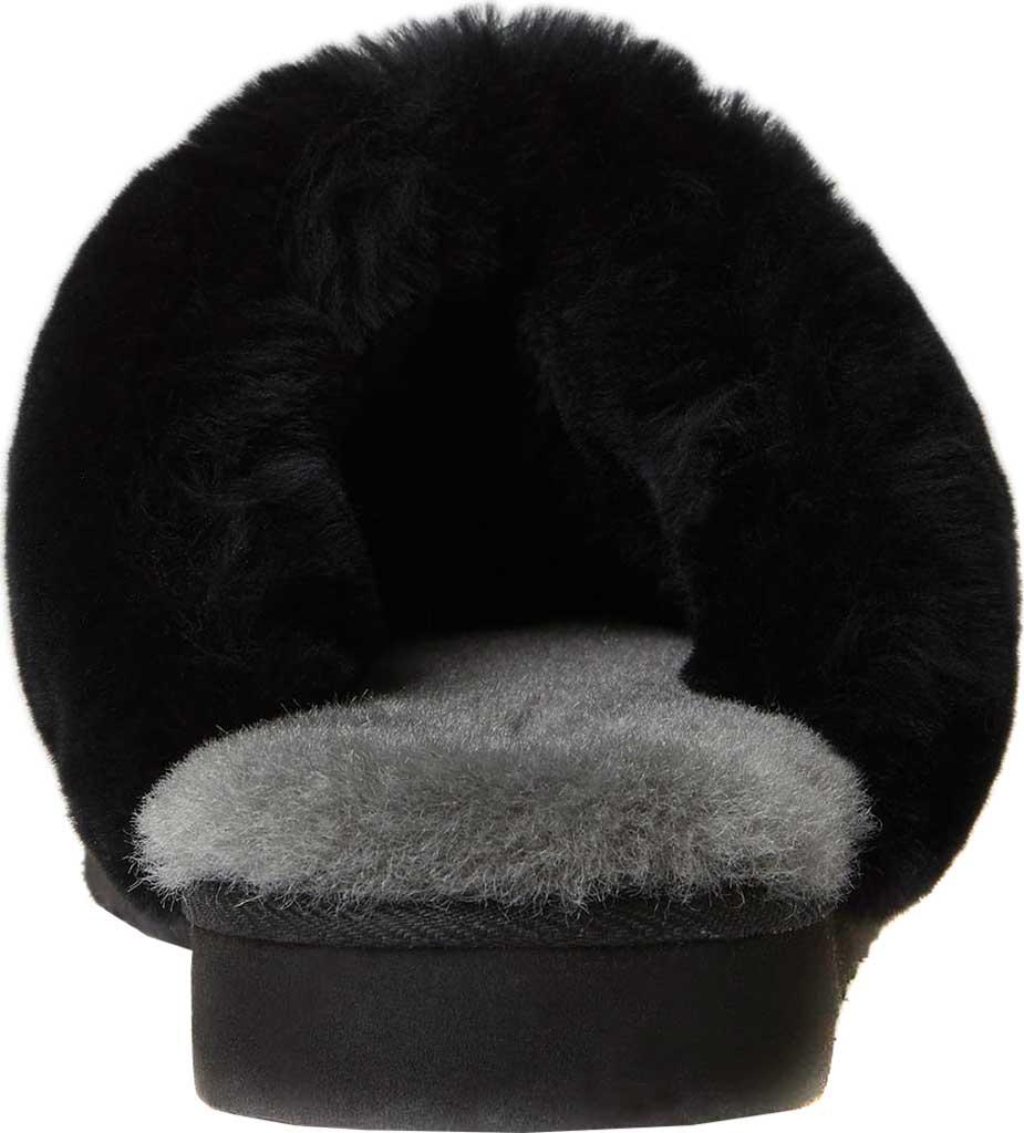 Women's Original Comfort by Dearfoams Sydney Scuff Slipper, Black, large, image 4
