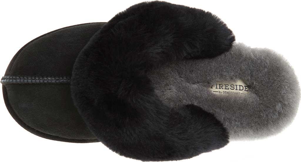 Women's Original Comfort by Dearfoams Sydney Scuff Slipper, Black, large, image 5