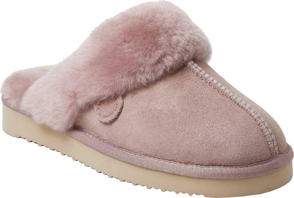 Women's Original Comfort by Dearfoams Sydney Scuff Slipper, Dusty Pink, large, image 1