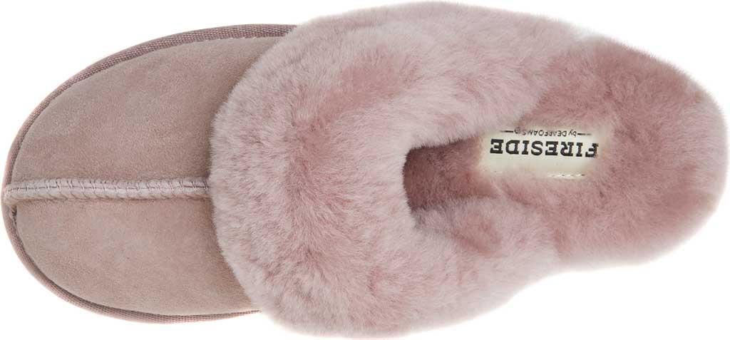 Women's Original Comfort by Dearfoams Sydney Scuff Slipper, Dusty Pink, large, image 5