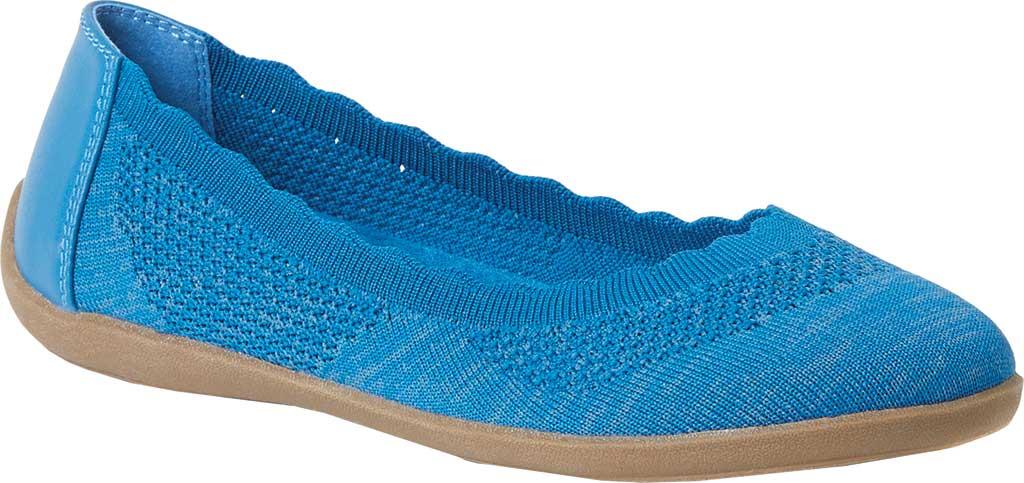 Women's Original Comfort by Dearfoams Misty Knit Ballet Flat, Classic Blue Knit Synthetic, large, image 1