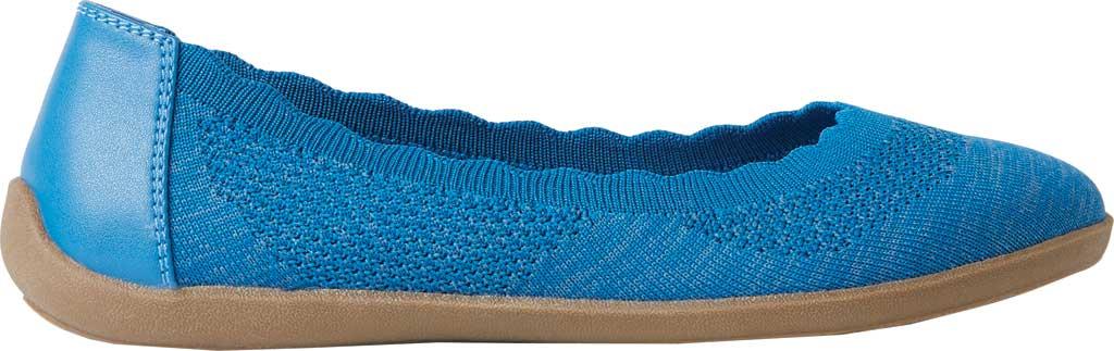 Women's Original Comfort by Dearfoams Misty Knit Ballet Flat, Classic Blue Knit Synthetic, large, image 2