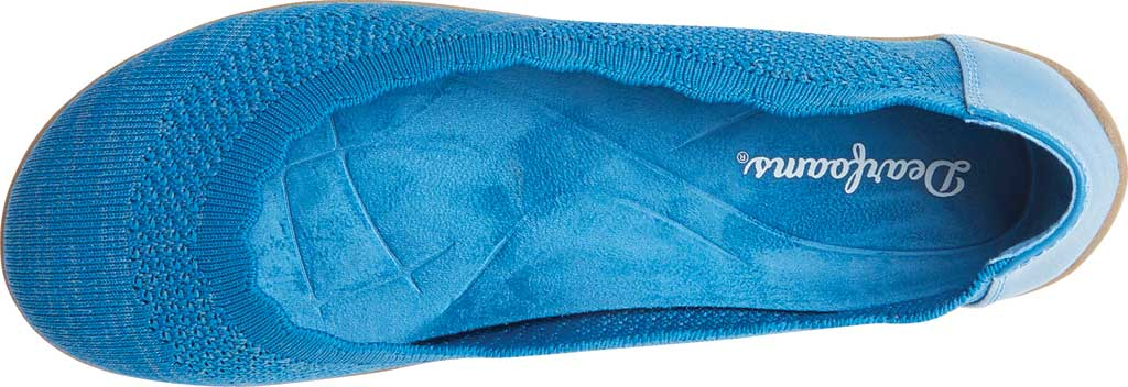 Women's Original Comfort by Dearfoams Misty Knit Ballet Flat, Classic Blue Knit Synthetic, large, image 4