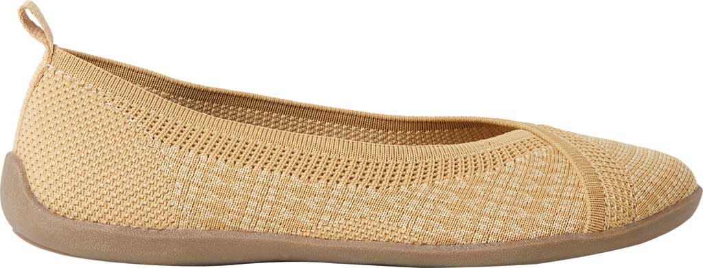 Women's Original Comfort by Dearfoams Nadia Knit Ballet Flat, Curry Knit Synthetic, large, image 2