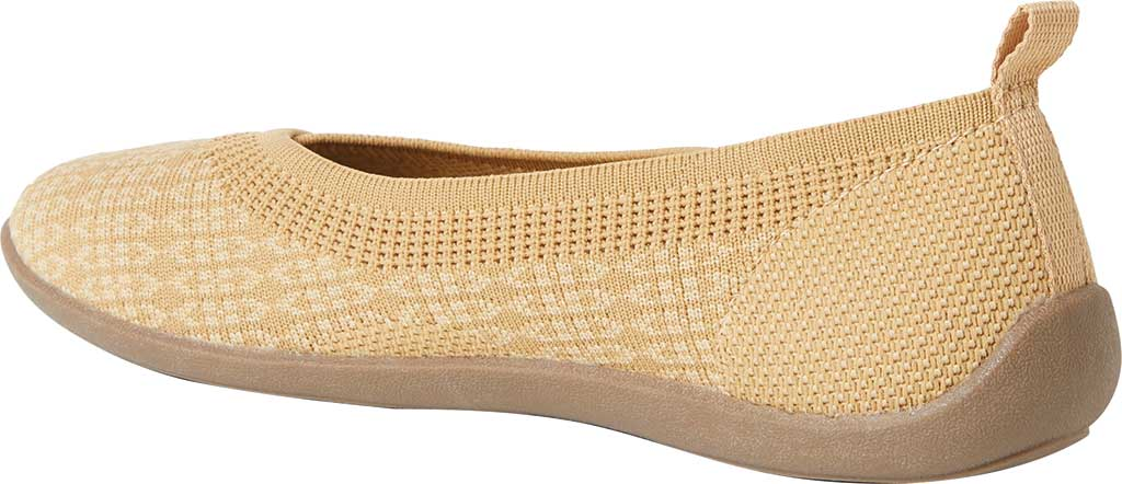 Women's Original Comfort by Dearfoams Nadia Knit Ballet Flat, Curry Knit Synthetic, large, image 3