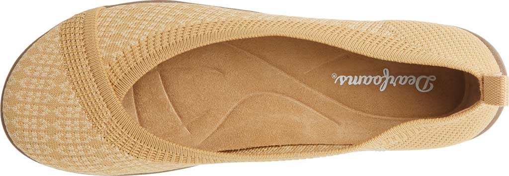 Women's Original Comfort by Dearfoams Nadia Knit Ballet Flat, Curry Knit Synthetic, large, image 4