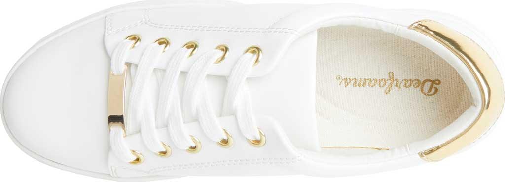 Women's Original Comfort by Dearfoams Tegan Sneaker, White Synthetic, large, image 4