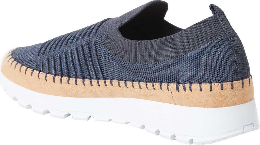Women's Original Comfort by Dearfoams Marina Knit Platform Slip On Sneaker, India Ink Knit Synthetic, large, image 3