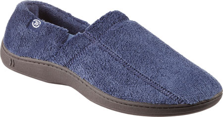 Men's Isotoner Microterry Slip On, Navy, large, image 1