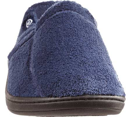 Men's Isotoner Microterry Slip On, Navy, large, image 3