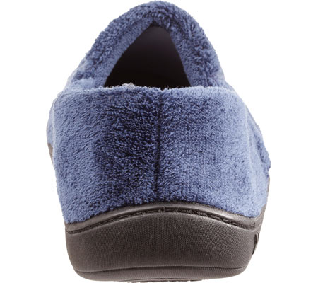 Men's Isotoner Microterry Slip On, Navy, large, image 4