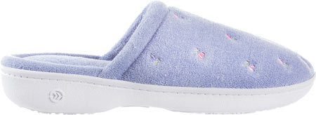 Women's Isotoner Terry Floral Embroidered Clog, Periwinkle, large, image 2