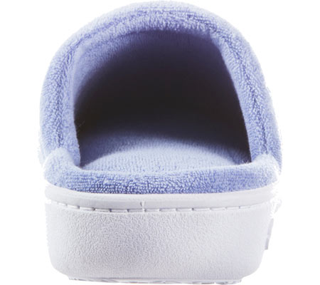Women's Isotoner Terry Floral Embroidered Clog, Periwinkle, large, image 4