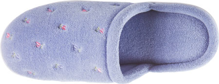 Women's Isotoner Terry Floral Embroidered Clog, Periwinkle, large, image 5