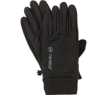 Men's Manzella Power Stretch Glove, Black, large, image 1