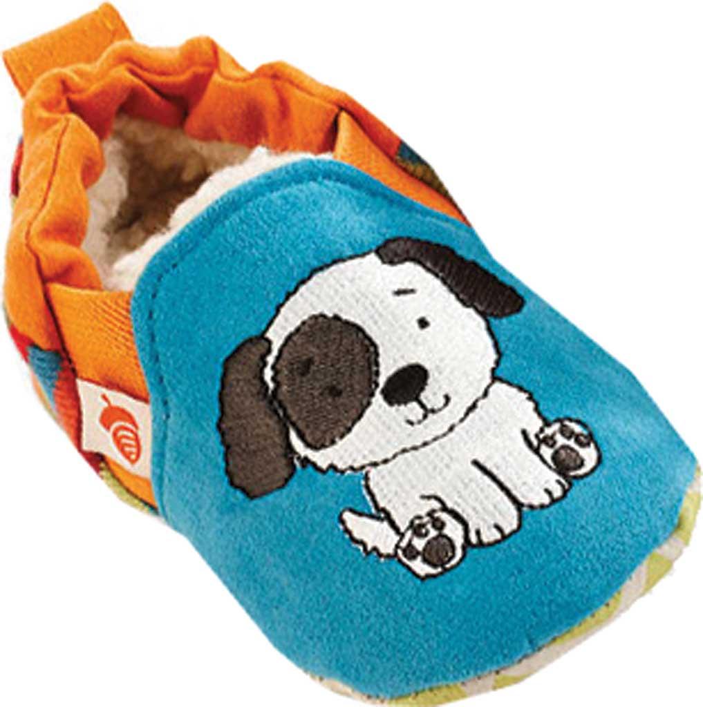 Infant Acorn Easy-On Moc, Teal Puppy, large, image 1