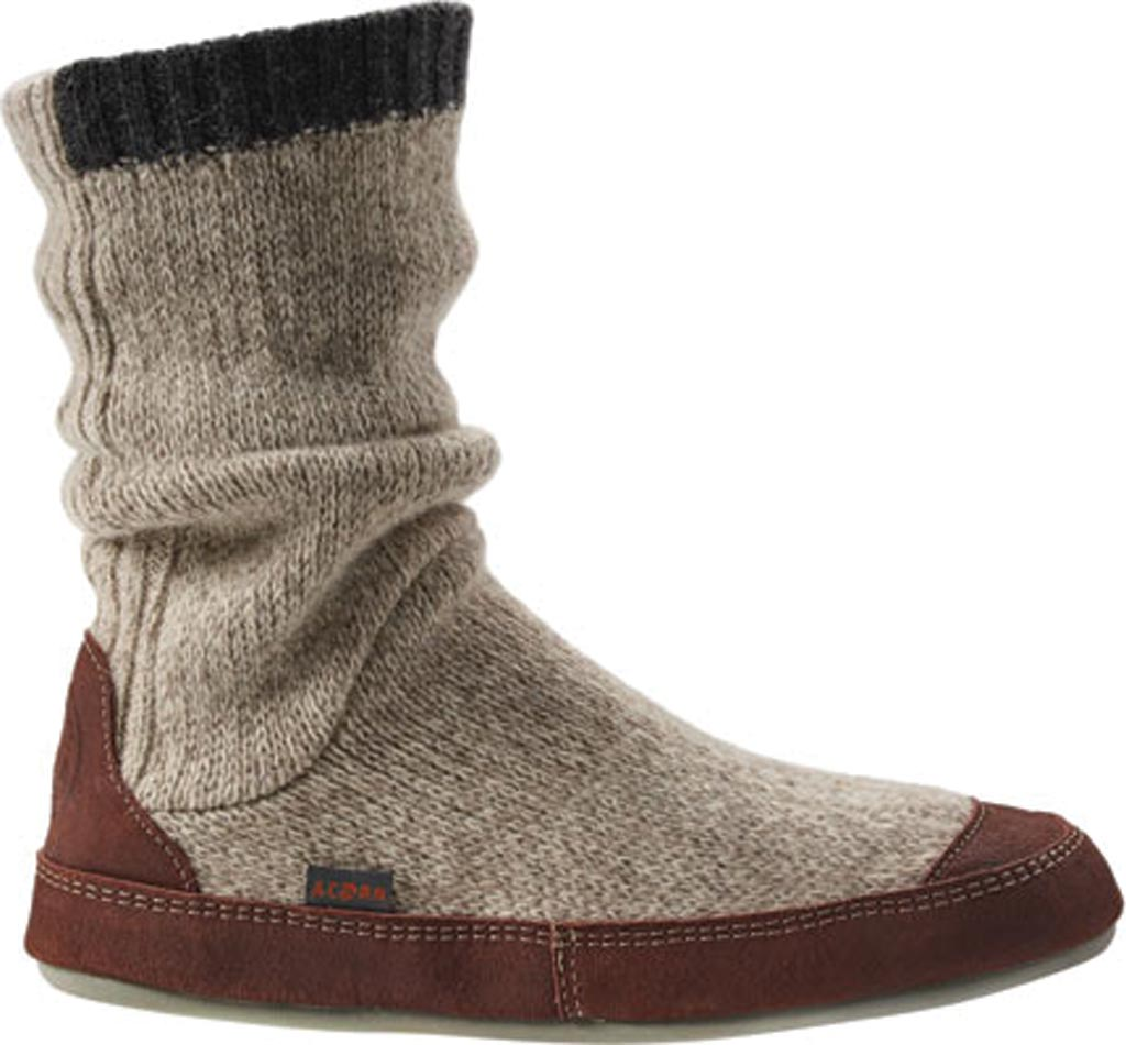 Men's Acorn Slouch Boot, Grey Ragg Wool, large, image 1