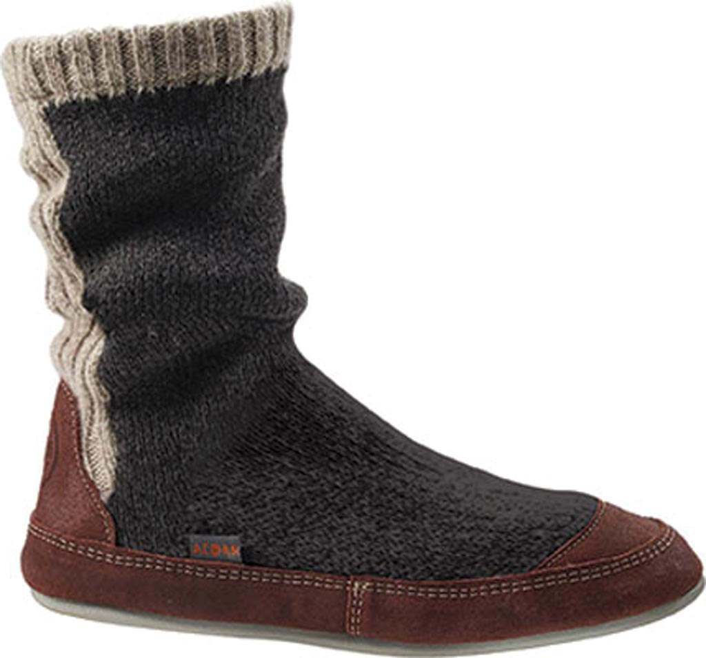 Men's Acorn Slouch Boot, Charcoal Ragg Wool, large, image 1