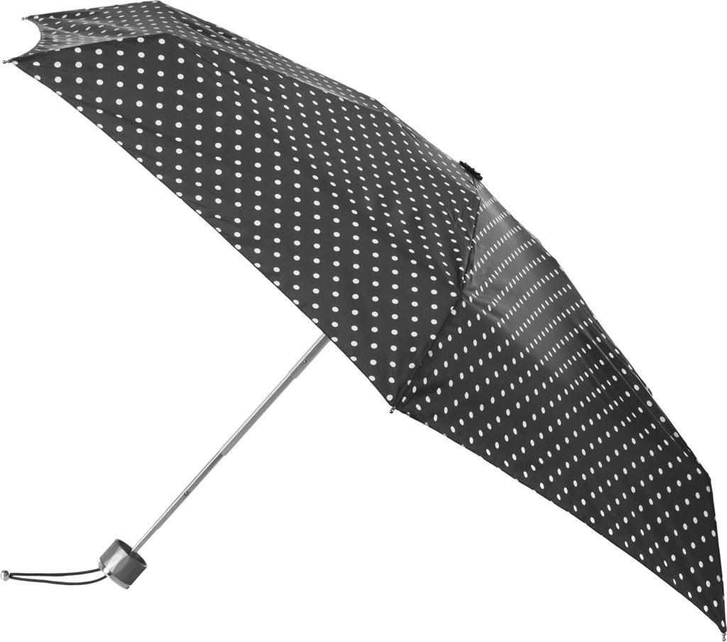 totes Titan Mini Manual NeverWet Umbrella, Black/White Big Swiss Dot, large, image 1