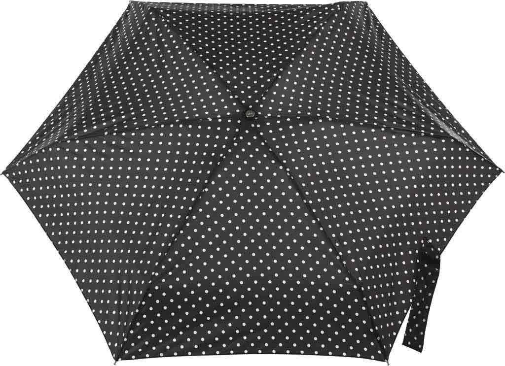 totes Titan Mini Manual NeverWet Umbrella, Black/White Big Swiss Dot, large, image 2