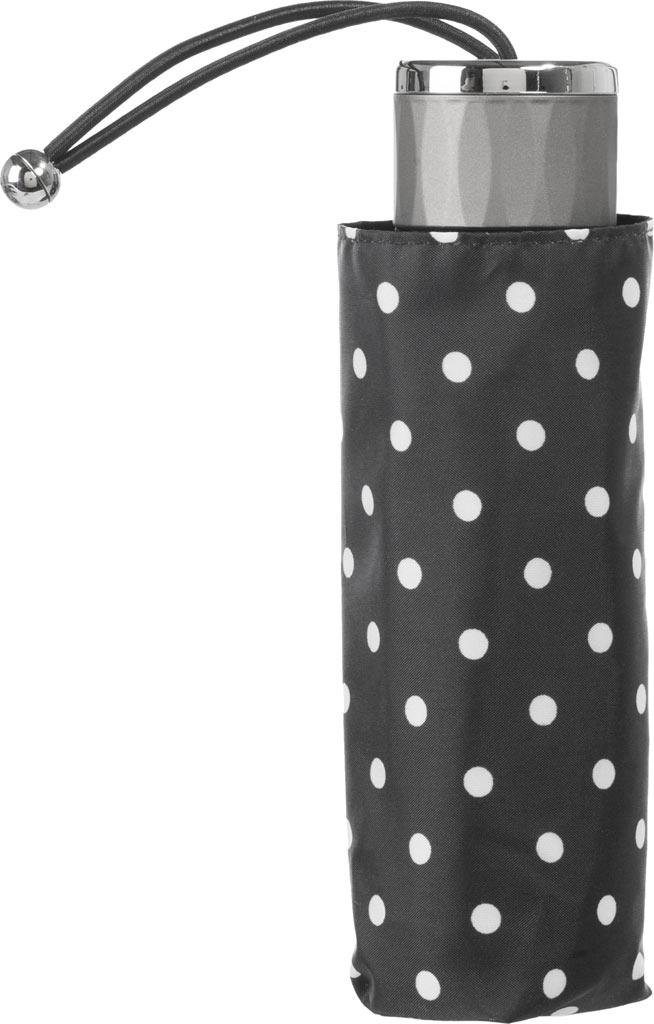 totes Titan Mini Manual NeverWet Umbrella, Black/White Big Swiss Dot, large, image 3