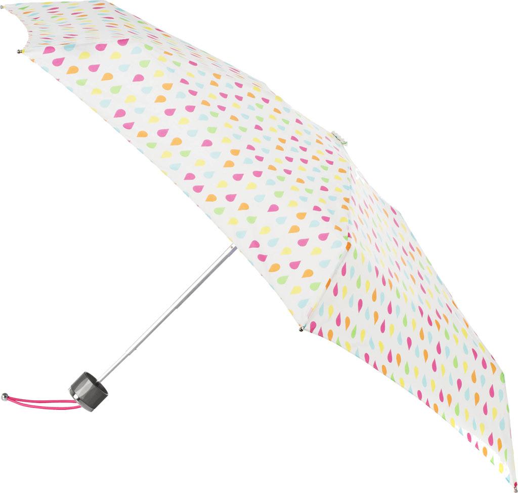 totes Titan Mini Manual NeverWet Umbrella, White Rain, large, image 1