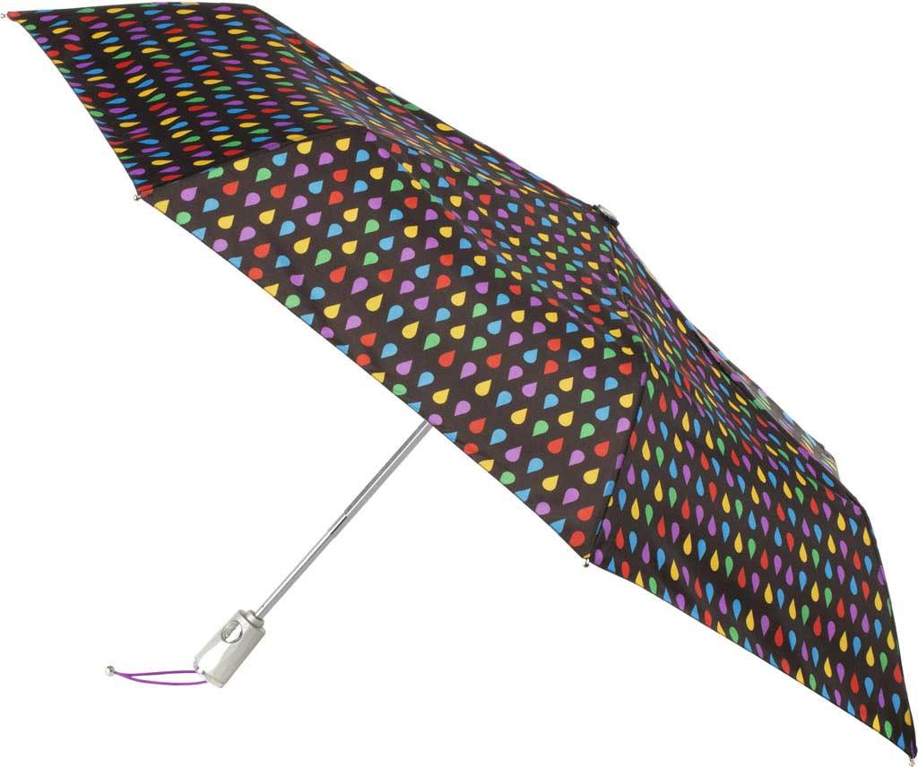 totes Signature Auto Open/Close NeverWet Umbrella, Black Rain, large, image 1