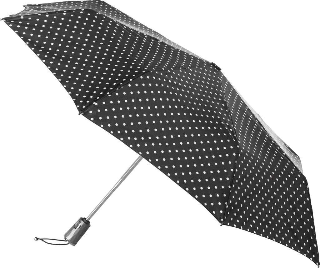 totes Titan Large Auto Open/Close NeverWet Umbrella, Black/White Big Swiss Dot, large, image 1