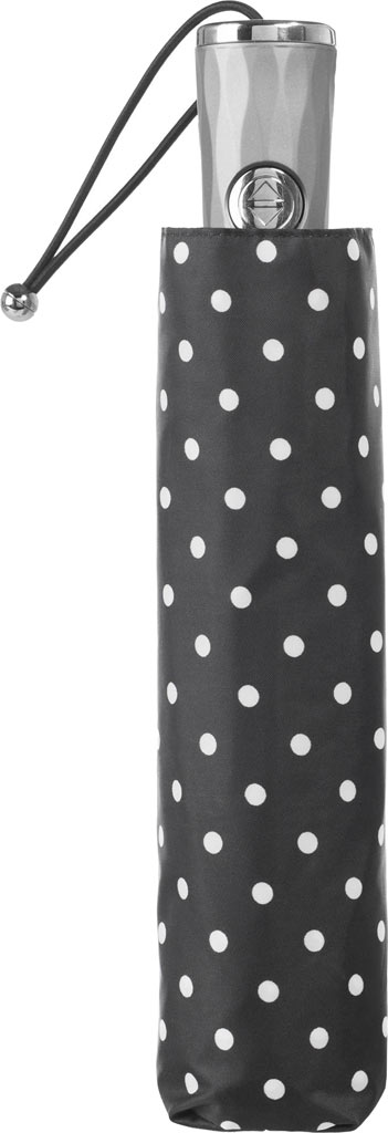 totes Titan Large Auto Open/Close NeverWet Umbrella, Black/White Big Swiss Dot, large, image 3