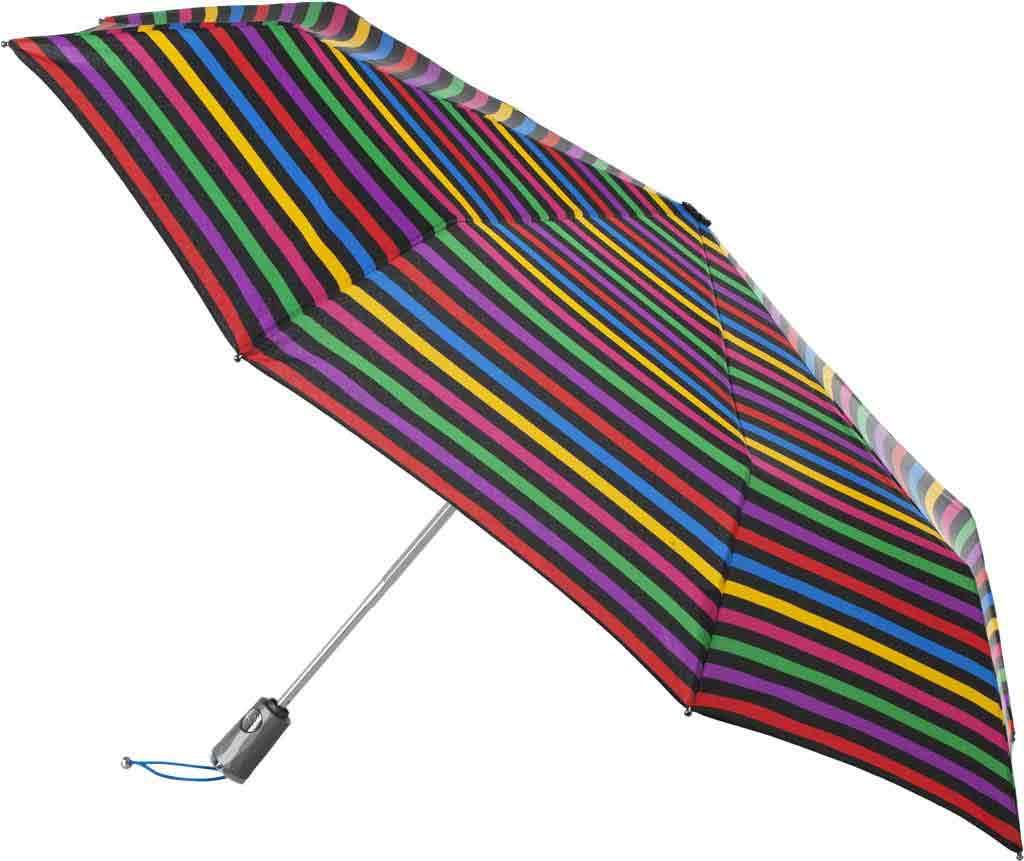 totes Titan Large Auto Open/Close NeverWet Umbrella, Hue Stripe, large, image 1