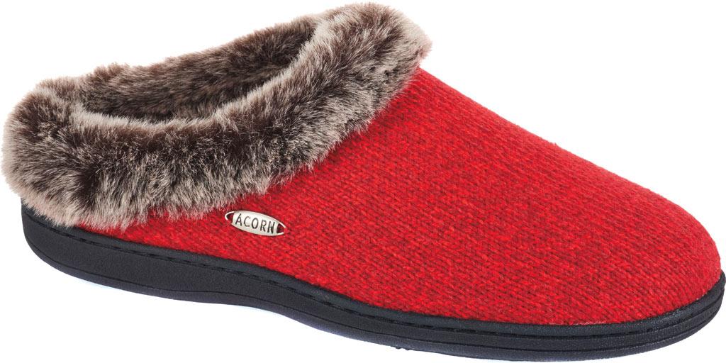 Women's Acorn Chinchilla Clog Ragg, Red Ragg Wool, large, image 1