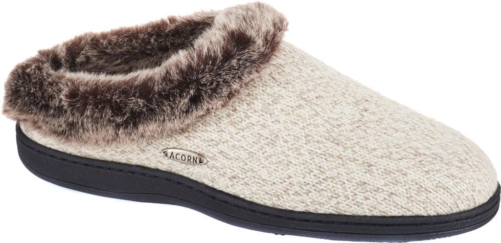 Women's Acorn Chinchilla Clog Ragg, Charcoal Heather Ragg Wool, large, image 1