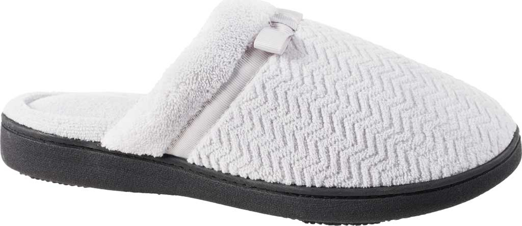 Women's Isotoner Chevron Microterry Clog Slipper, Periwinkle Terry Cloth, large, image 1