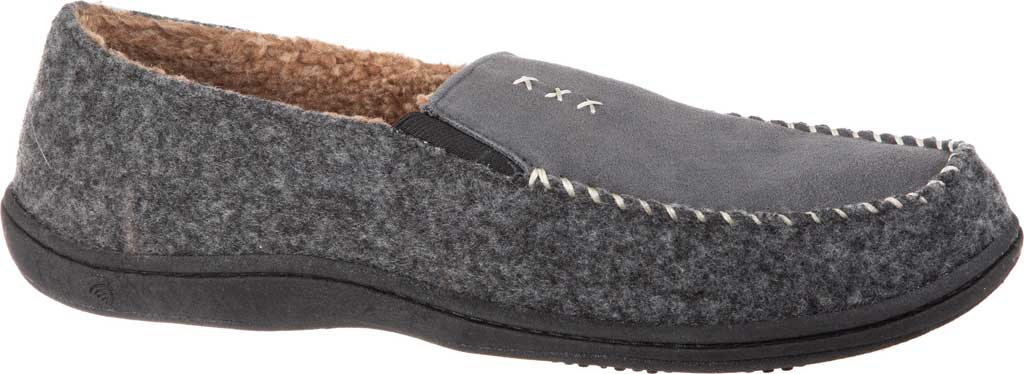 Men's Acorn Crafted Moccasin, Ash Suede/Faux Wool, large, image 1