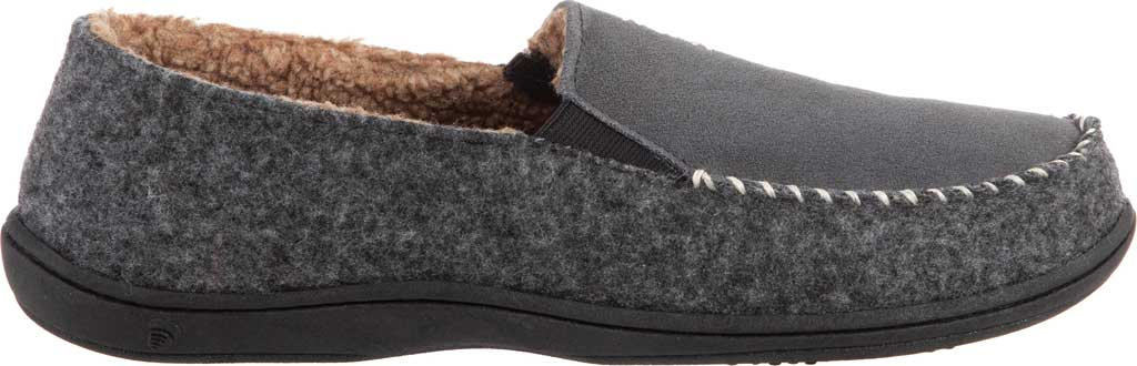 Men's Acorn Crafted Moccasin, Ash Suede/Faux Wool, large, image 2
