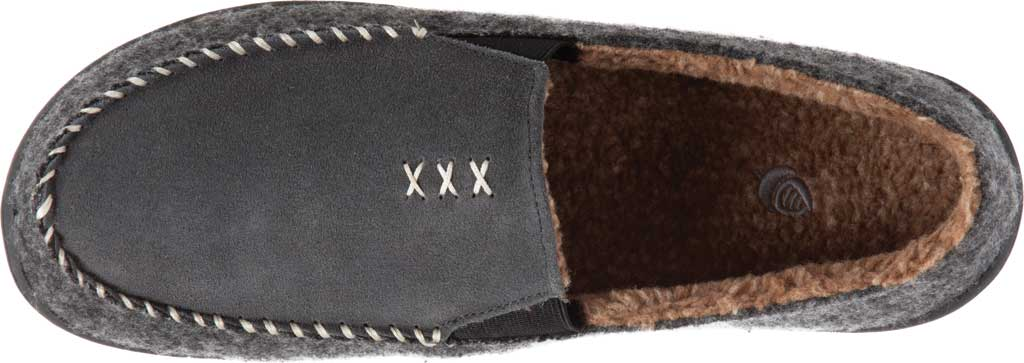 Men's Acorn Crafted Moccasin, Ash Suede/Faux Wool, large, image 4