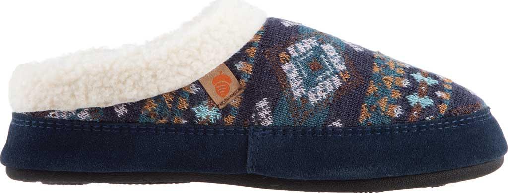 Women's Acorn Fairisle Hoodback Clog Slipper, Blue Multi Polyester Knit, large, image 2