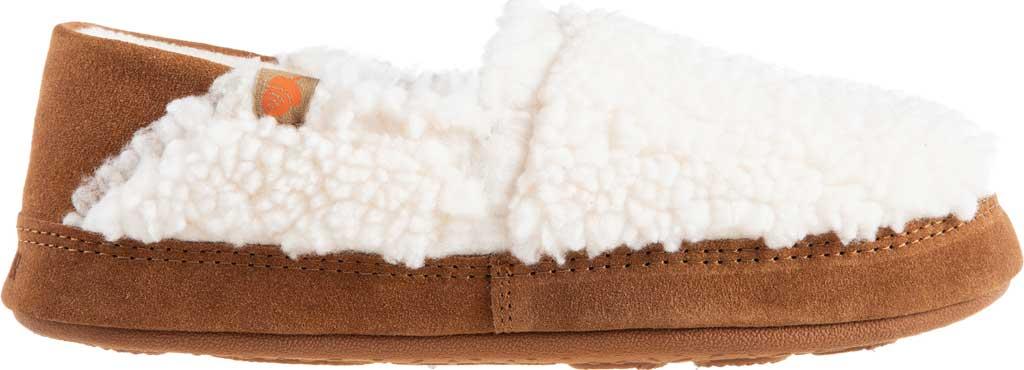 Women's Acorn Collapsible Heel Acorn Moc II Slipper, Buff Popcorn Berber Fleece, large, image 2