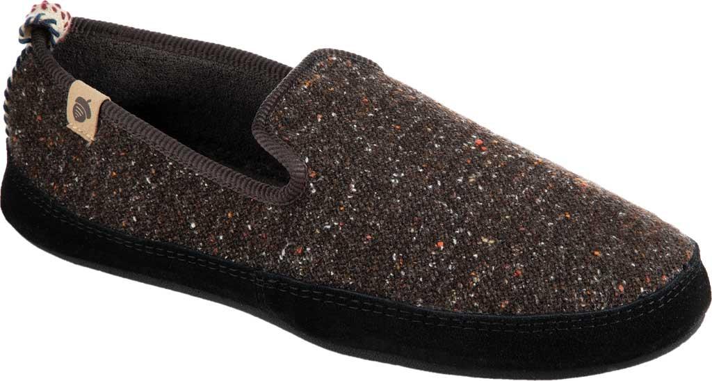 Men's Acorn Bristol Loafer Slipper, Black Knit Tweed, large, image 1
