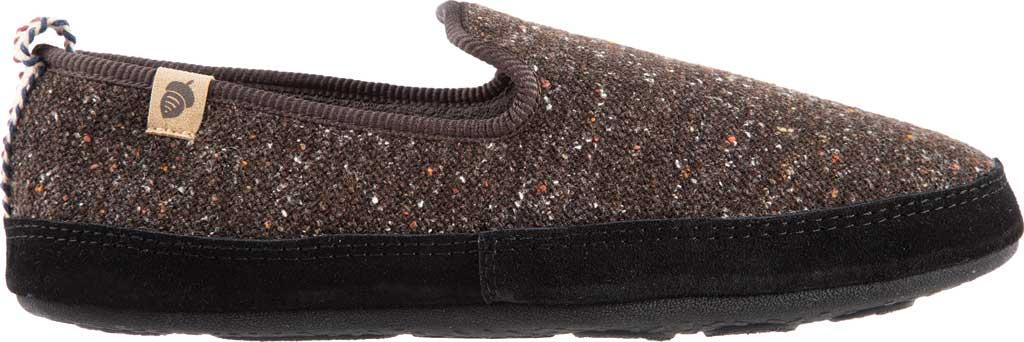 Men's Acorn Bristol Loafer Slipper, Black Knit Tweed, large, image 2