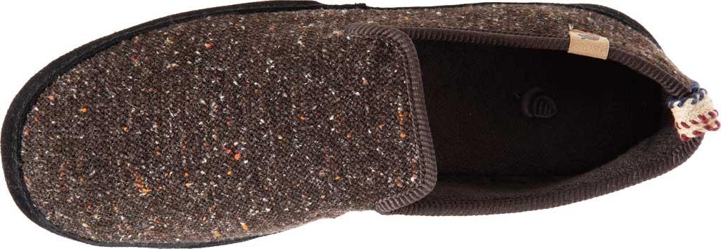 Men's Acorn Bristol Loafer Slipper, Black Knit Tweed, large, image 4
