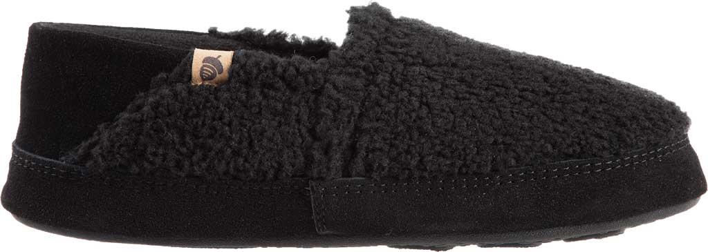 Men's Acorn Collapsible Heel Acorn Moc II Slipper, Black Berber Fleece, large, image 2