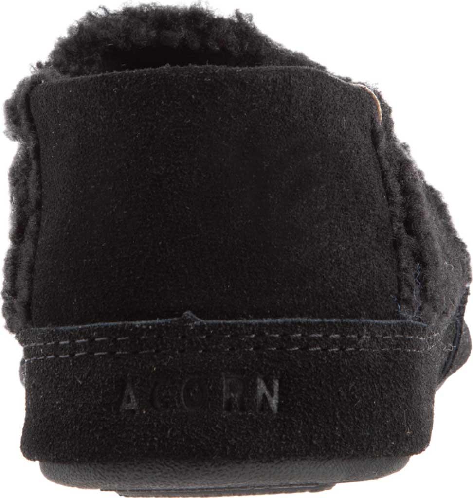 Men's Acorn Collapsible Heel Acorn Moc II Slipper, Black Berber Fleece, large, image 3